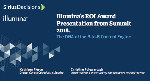 Illumina's Content Strategy & Operations ROI Award Presentation from Summit 2018 Webcast Replay
