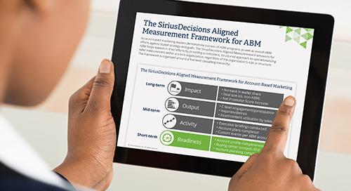 The SiriusDecisions Aligned Measurement Framework