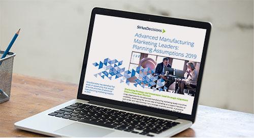 Advanced Manufacturing Planning Assumptions 2019