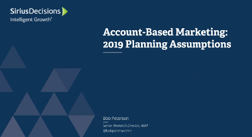 Planning Assumptions for 2019: Account-Based Marketing Growth Webcast Replay