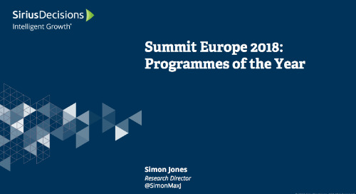 Summit Europe: Programmes of the Year Webcast Replay