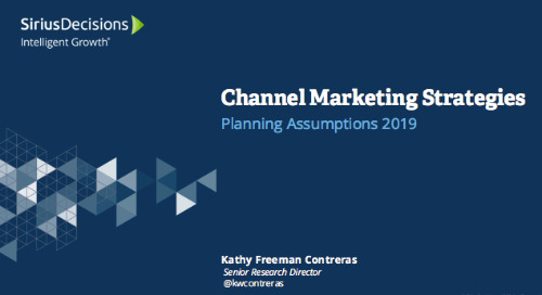 2019 Planning Assumptions: Channel Marketing Webcast Replay