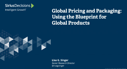 Global Pricing and Packaging: Using the Blueprint for Global Products Webcast Replay