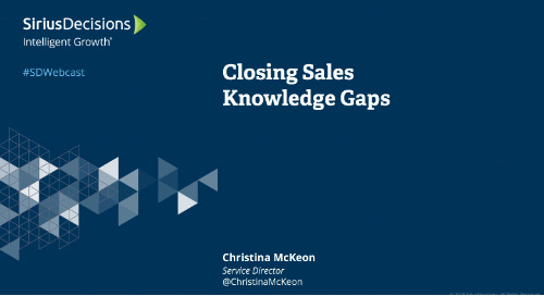Closing Sales Knowledge Gaps Webcast Replay