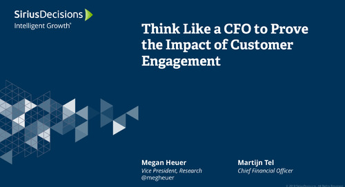 Think Like a CFO to Prove the Impact of Customer Engagement Webcast Replay