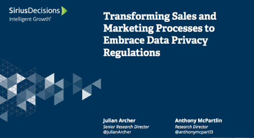 Transforming Sales and Marketing Processes to Embrace Data Privacy Regulations Webcast Replay