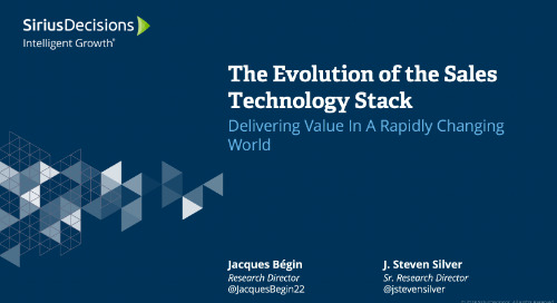 The Evolution of the Sales Technology Stack Webcast Replay