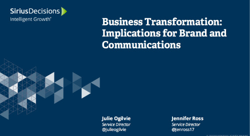 Business Transformation: Implications for Brand and Communications Webcast Replay