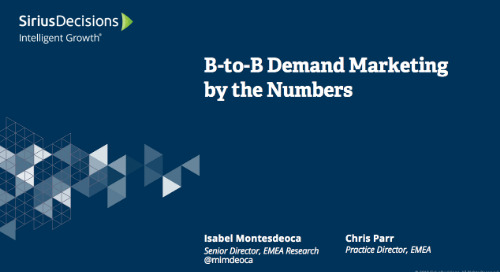 B-to-B Demand Marketing by the Numbers Webcast Replay