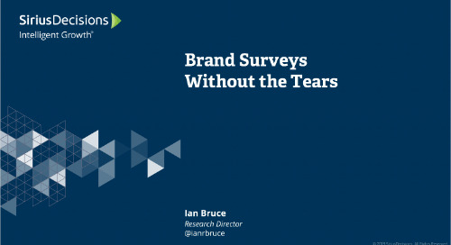 Brand Surveys Without the Tears Webcast Replay