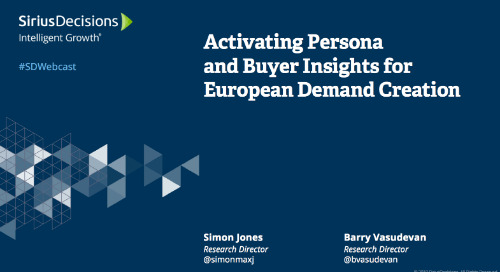 Activating Persona and Buyer Insights for European Demand Creation