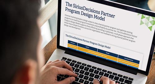 The SiriusDecisions Partner Program Design Model
