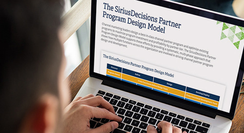 The SiriusDecisions Partner Program Design Model