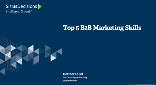Top 5 B-to-B Marketing Skills and Competencies Needed for Success in the New Year Webcast Replay