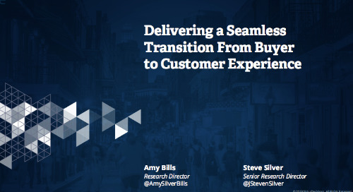 May I Have This Dance: Delivering a Seamless Transition From Buyer to Customer Experience Webcast Replay