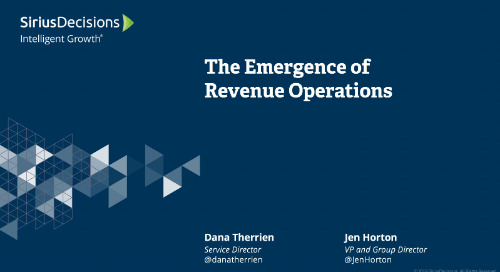 Emergence of Revenue Operations Webcast Replay