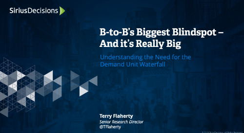 An Overview of the SiriusDecisions Demand Unit Waterfall™ Webcast Replay