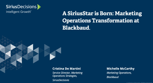 A SiriusStar is Born: Marketing Operations Transformation at Blackbaud Webcast Replay