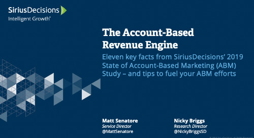 The State of ABM: The Account Based Revenue Engine Webcast Replay