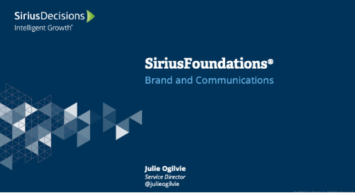 SiriusFoundations: Brand and Communications Webcast Replay