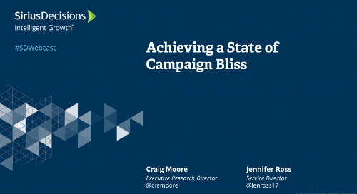Achieving a State of Campaign Bliss Webcast Replay