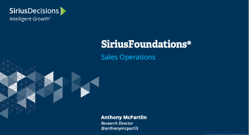SiriusFoundations: Sales Operations Webcast Replay