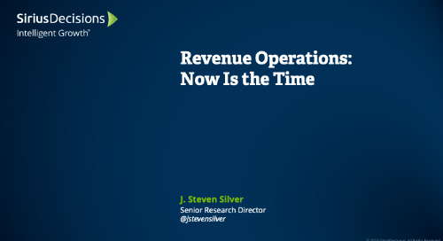 Revenue Operations: Now Is the Time Webcast Replay