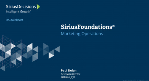 SiriusFoundations: Marketing Operations Webcast Replay