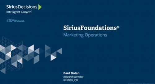 SiriusFoundations: Marketing Operations Webcast Replay