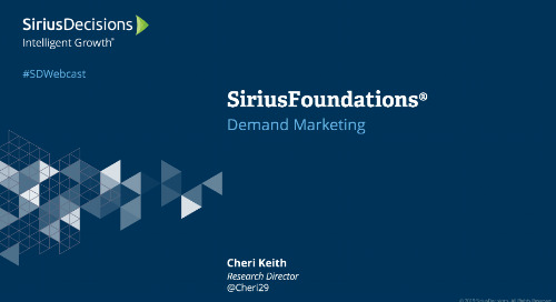 SiriusFoundations: Demand Marketing Webcast Replay
