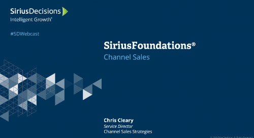 SiriusFoundations: Channel Sales Webcast Replay