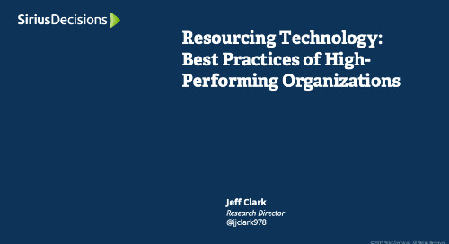 Resourcing Technology: Best Practices of High-Performing Organizations Webcast Replay