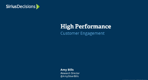 High Performance: Customer Engagement Webcast Replay