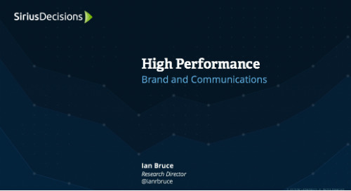 High Performance: Brand and Communications Webcast Replay