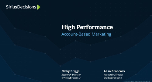 High Performance: Account-Based Marketing Webcast Replay
