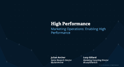 High Performance: Marketing Operations Webcast Replay