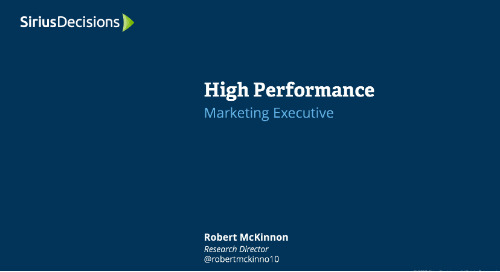 High Performance: Marketing Executive Webcast Replay