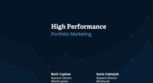 High Performance: Portfolio Marketing Webcast Replay