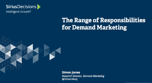 The Range of Responsibilities for Demand Marketing