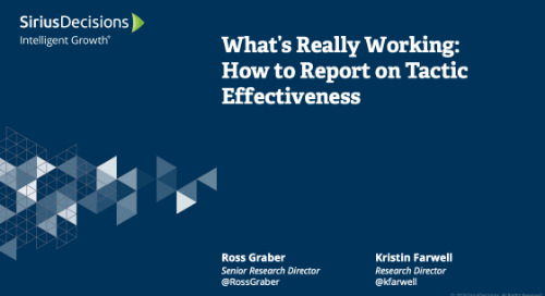What's Really Working: How to Report on Tactic Effectiveness Webcast Replay