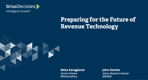 Preparing for the Future of Revenue Technology Webcast Replay