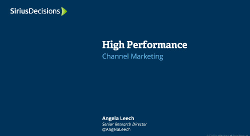 High Performance: Channel Marketing Webcast Replay