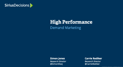 High Performance: Demand Marketing Webcast Replay