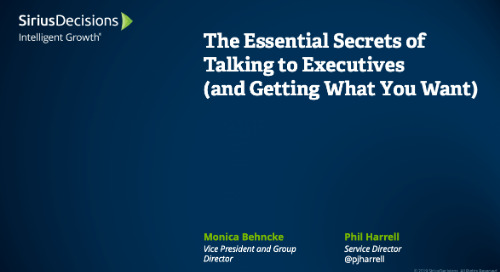 The Essential Secrets of Talking to Executives (and Getting What you Want) Webcast Replay