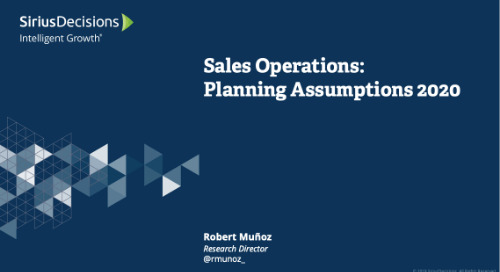 Sales Operations: Planning 2020 Webcast Replay
