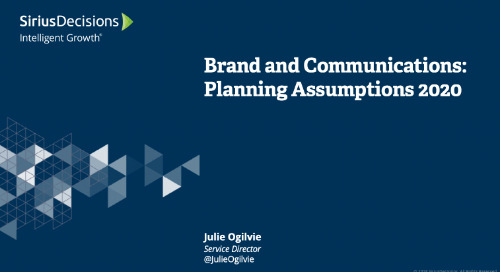Brand and Communications: Planning 2020 Webcast Replay
