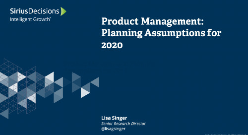 Product Management: Planning 2020 Webcast Replay
