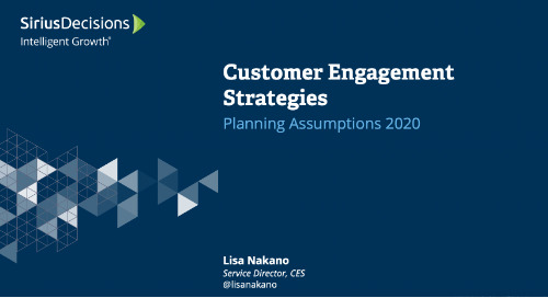 Customer Engagement Strategies: Planning 2020 Webcast Replay