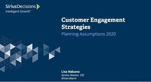Customer Engagement Strategies: Planning 2020 Webcast Replay