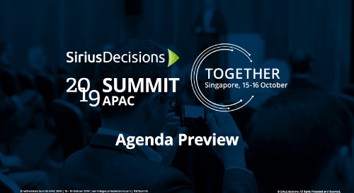 2019 Summit APAC: Agenda Preview Webcast Replay